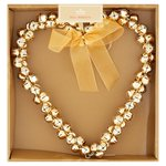 Morrisons Heart Shaped Gold Wreath