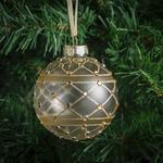 Morrisons Gold Glass Baubles With Gems