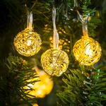 Morrisons Copper Wire Ball Light Chain