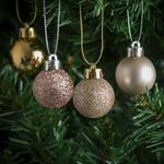 Morrisons Champagne Gold Mini Baubles