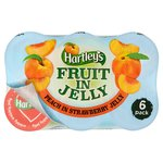 Hartleys Fruit in Jelly Peach & Strawberry 6PK