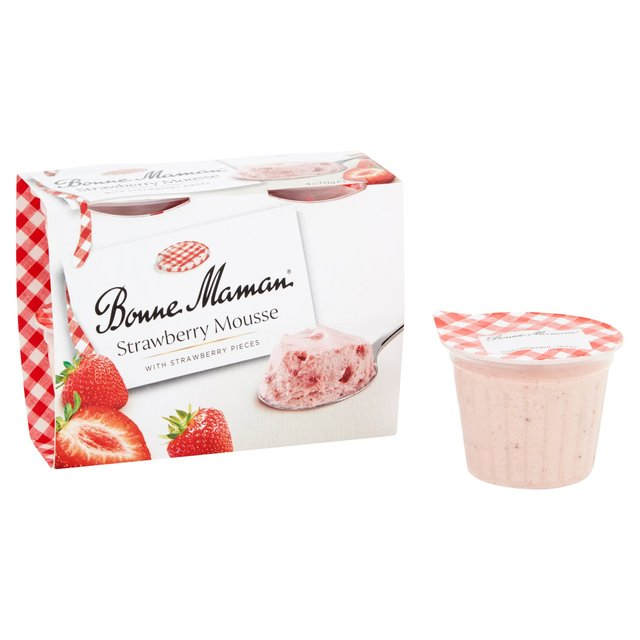 morrisons bonne maman strawberry mousse 4 per pack. Black Bedroom Furniture Sets. Home Design Ideas