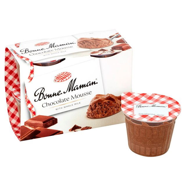 morrisons bonne maman chocolate mousse 4 per pack product. Black Bedroom Furniture Sets. Home Design Ideas