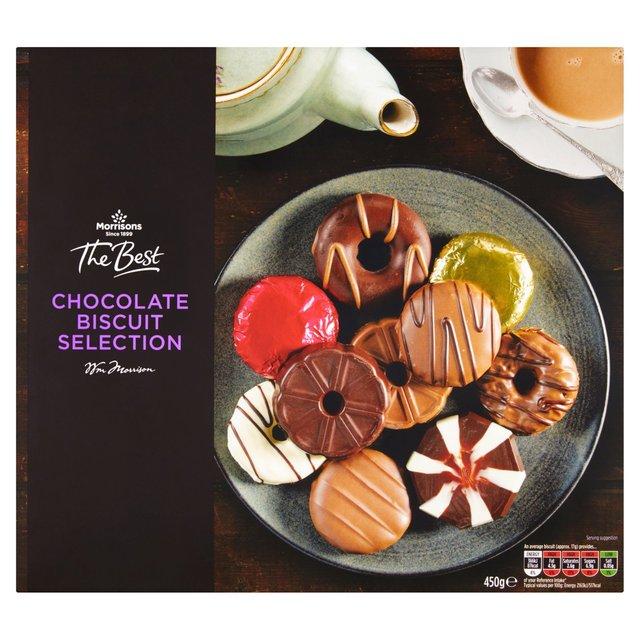 Morrisons The Best Milk, Dark & White Chocolate Biscuits