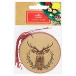 Morrisons Stag On Kraft Gift Tags
