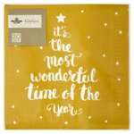 Morrisons Gold Text Tree Napkins 33cm