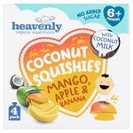 Heavenly Organic Superfoods Coconut Squishes Mango, Apple & Banana 4PK