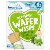 Heavenly Yummy Wafer Wisps Spinach, Apple & Kale 6PK