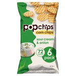 Popchips Sour Cream & Onion 6pk