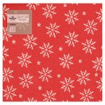 Morrisons Red Snowflake Napkins 40cm