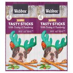 Webbox Dog Sticks Turkey and Cranberry
