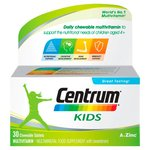 Centrum Kids 30 Chewable Tablets Multivitamin Multimineral Food Supplement