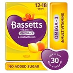 Bassetts Multivitamins + Omega-3 12 -18 Yrs Citrus Flavour 30 Chewies