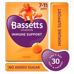 Bassetts Vitamins Immune Support 7-11 Years Orange Flavour 30 Chewies