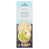 Morrisons Sea Salt Scalloped Crackers