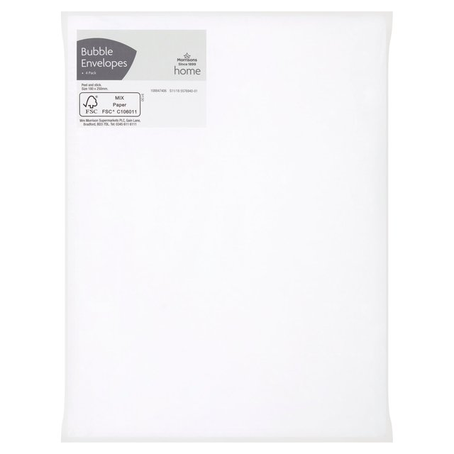 Morrisons Bubble Envelopes 180 x 250mm