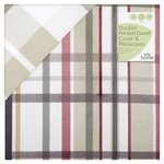 Morrisons 100% Cotton Country Check Double Duvet Set