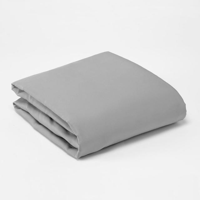 Morrisons 100% Cotton Grey Single Fitted Sheet