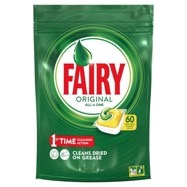 Fairy Original All In One Dishwasher Tablets Lemon x60