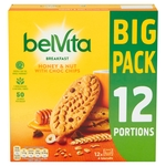 BelVita Breakfast Biscuits Honey & Nuts 12 Pack