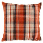 Morrisons Stirling Orange Check Cushion
