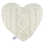 Morrisons Cream Knitted Heart Cushion