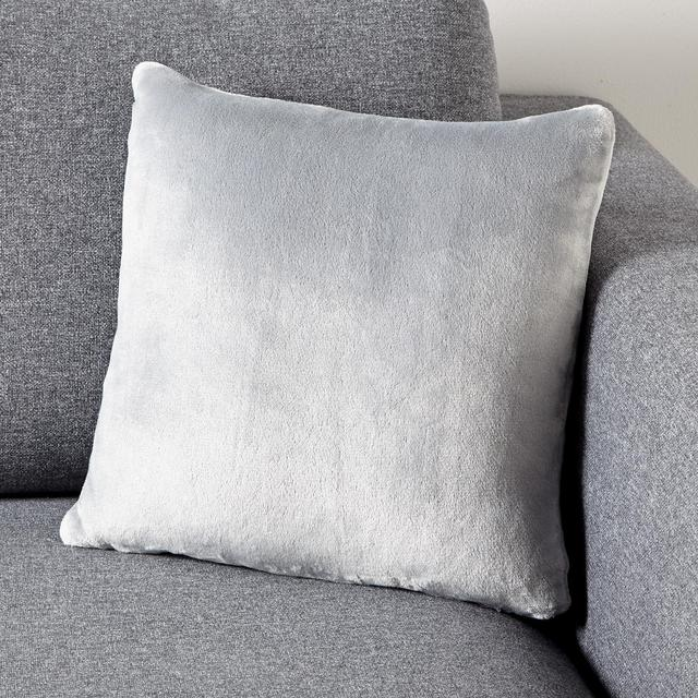 Morrisons Supersoft Grey Cushion