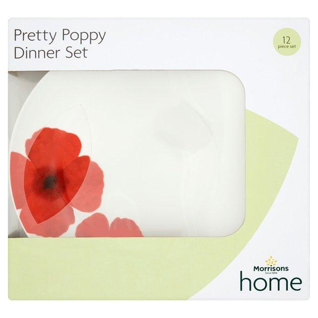 Morrisons Home Pretty Poppy Dinner Set 12 Piece  sc 1 st  Morrisons & Morrisons: Morrisons Home Pretty Poppy Dinner Set 12 Piece (Product ...