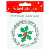 Baked with Love 24 Holly Berry Baking Cases