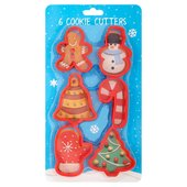 Baked with Love Christmas Cookie Cutter 6PK