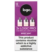 Logic Pro Capsules Berry Mint Flavour 12Mg