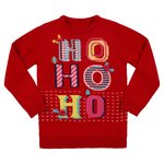 Nutmeg Younger Girls Red Ho Ho Ho Jumper Size 1-1.5 Years