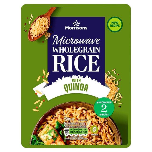 Morrisons: Morrisons Microwave Whole Grain Rice & Quinoa