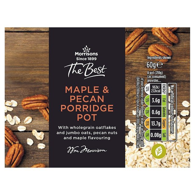 Morrisons The Best Maple & Pecan Porridge