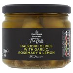 Morrisons The Best Green Olives with Lemon, Garlic & Rosemary
