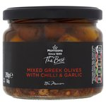 Morrisons The Best Mixed Pitted Olives with Garlic & Chilli