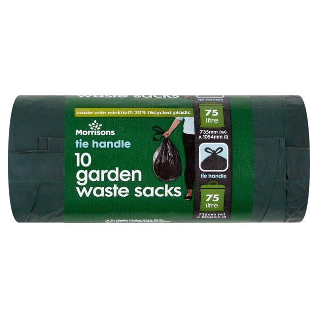 Morrisons 75L Tie Top Garden Waste Garden Waste Bin Liners