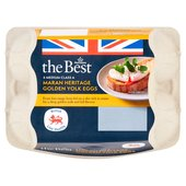 Morrisons The Best 6 Medium Free Range Golden Yolk Eggs
