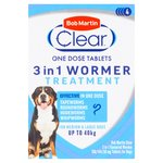 Bob Martin Clear 3 In 1 Wormer Tablets for Dogs 4PK