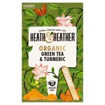 Heath & Heather Organic Green Tea & Turmeric 20 Envelope Bags