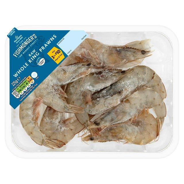 Morrisons Fishmongers Frozen Raw Whole King Prawns