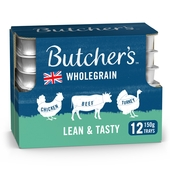 Butcher's Lean & Tasty Low Fat Dog Food Trays 12x150g