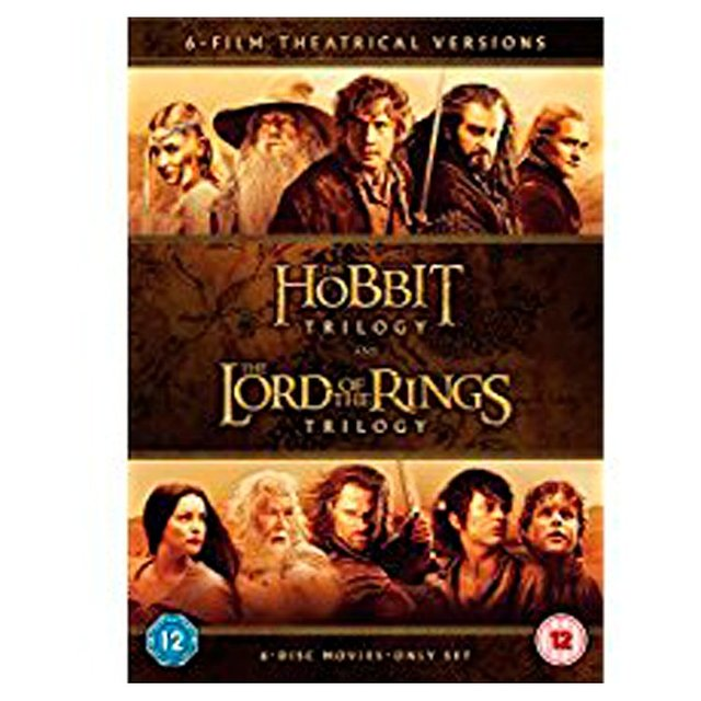 Hobbit Trilogy & Lord Of The Rings Trilogy DVD (12)