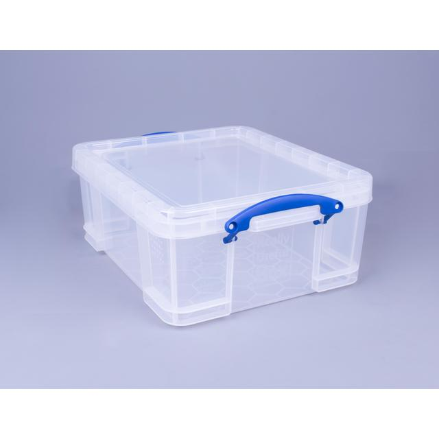 Really Useful Clear Storage Box With Lid 3L
