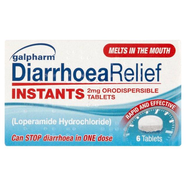 Galpharm Diarrhoea Relief Instants 6 Tablets