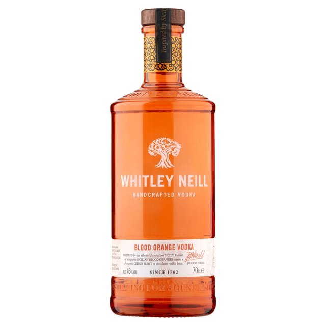 Whitley Neill Handcrafted Vodka Blood Orange Vodka (Abv 43%)