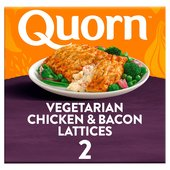 Quorn Vegetarian Chicken & Bacon Lattices 2 Pack