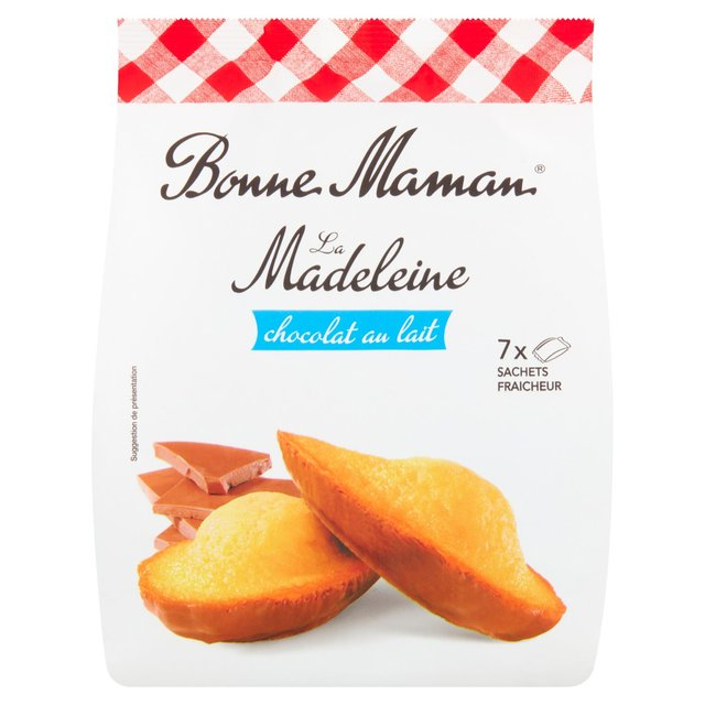 Bonne Maman Madeleine With Milk Chocolate 7 Freshly Wrapped Cakes