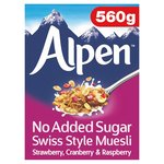 Alpen No Added Sugar Strawberry, Raspberry & Cranberry Muesli