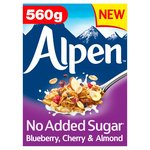 Alpen No Added Sugar Blueberry, Cherry & Almond Muesli